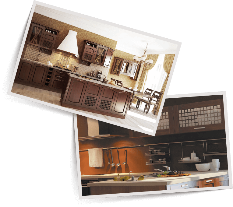 Фото современной кухни из массива дерева Malaga