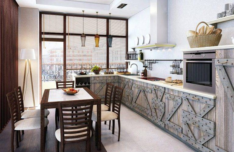 Кухня из массива сосны WEEKEND с рамочными фасадами