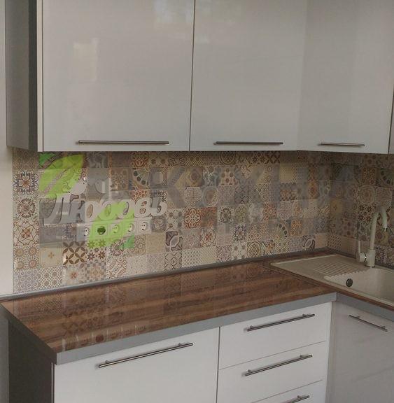 Кухня Пластик (белый глянец)