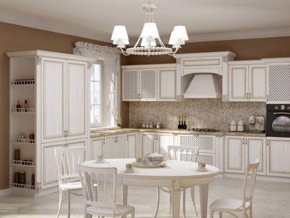фото классической кухни из массива дерева Astra