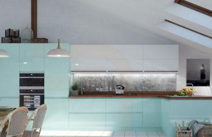 Кухня BREEZE с фасадами из МДФ с фрезерованной ручкой