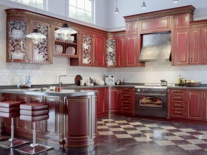 Кухня из массива дерева Наполи
