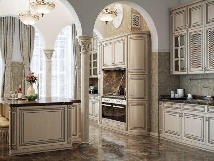 Классическая кухня из массива дерева Венеция