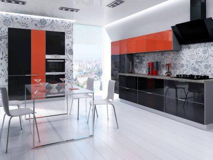 Современная кухня CRISTA с алюминиевой рамкой