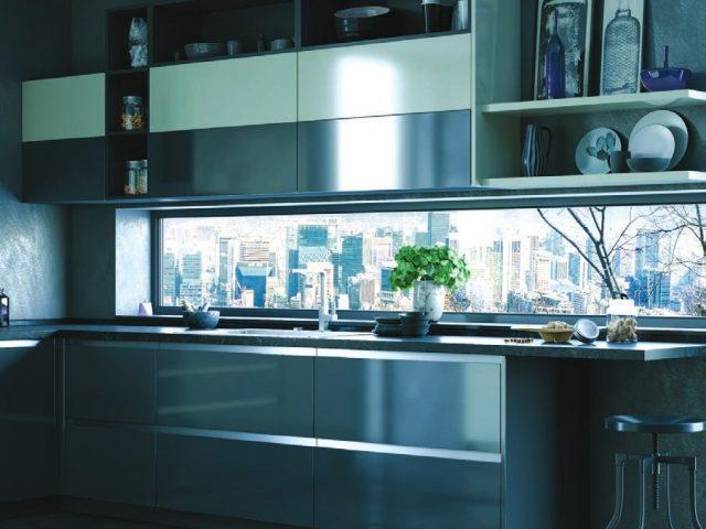 Угловая кухня из пластика «ЧИКАГО»