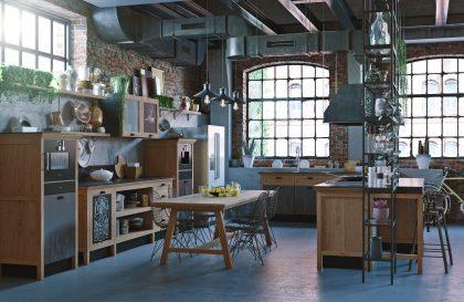 Кухня из массива дуба «ЛОФТ» в стиле лофт