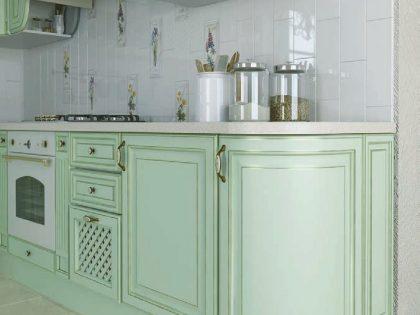 Кухня из МДФ эмали «ПАРИЖ» в стиле Прованс