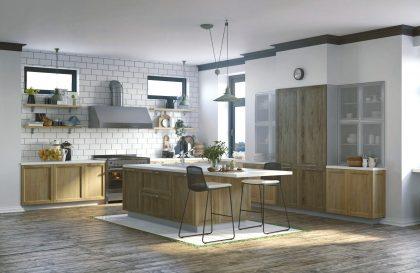 Кухня с островом из МДФ «МАРСЕЛЬ-4»
