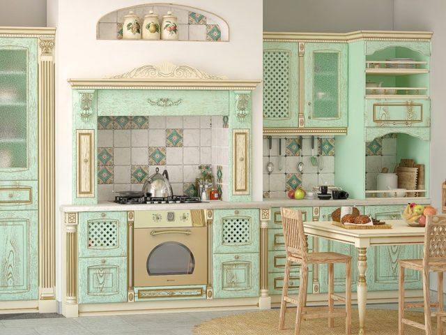 Классическая кухня Вернисаж из натурального шпона ясеня