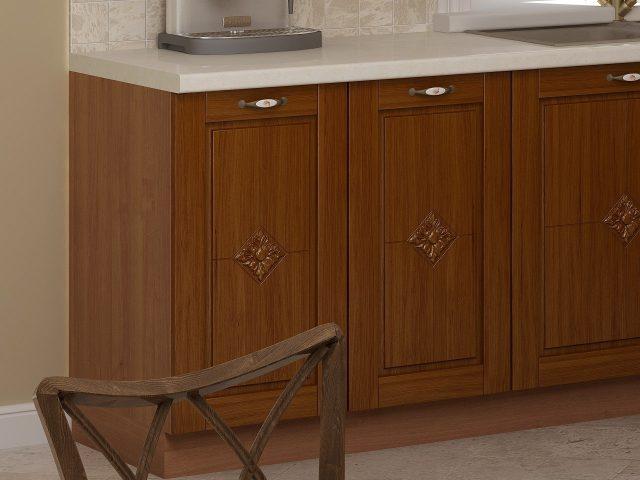 Кухонный гарнитур Флавия Дэко из массива дуба