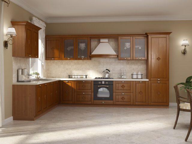 Кухонный гарнитур Flavia Deco из массива дуба