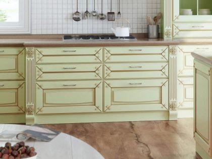 Кухня из массива Buona Sera Мерано в стиле прованс