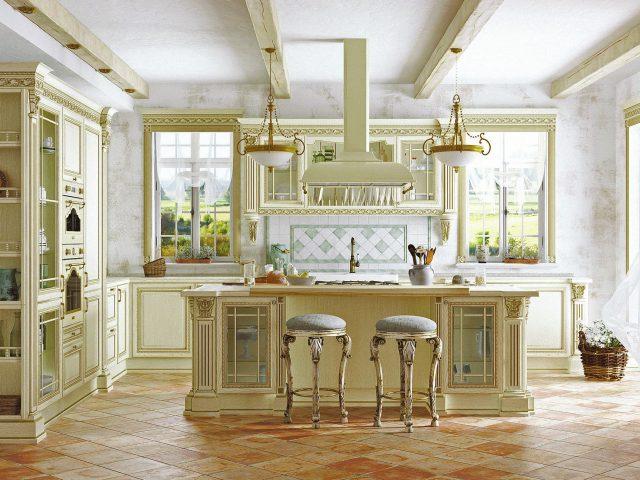 Светлая кухня из массива ясеня модели Артвуд
