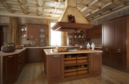 Кухня Малага из массива дуба