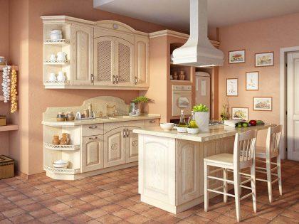 Классическая кухня Leda Oak из массива дуба