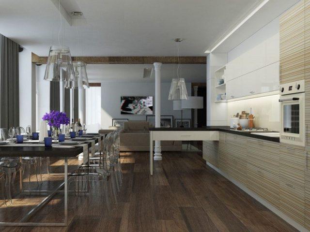 Высокоглянцевая кухня Simona с акриловыми фасадами