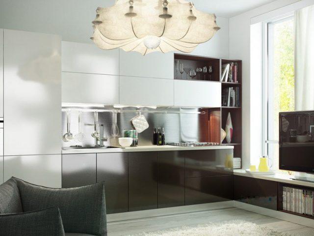 Современная кухня ALVA с фасадами из МДФ Эмаль