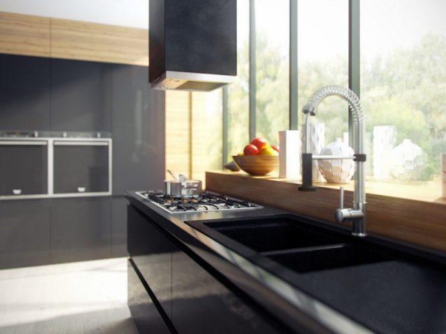 Современная кухня BREEZE с фасадами из матового МДФ