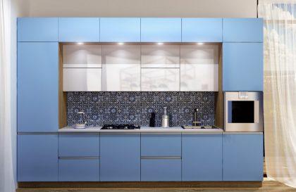 Кухня Фуксия с аллюминиевым профилем