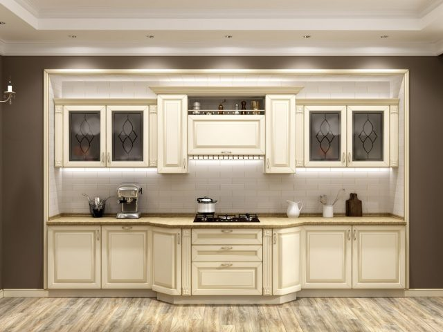 Неоклассическая кухня Валенсия с фасадами из МДФ эмаль