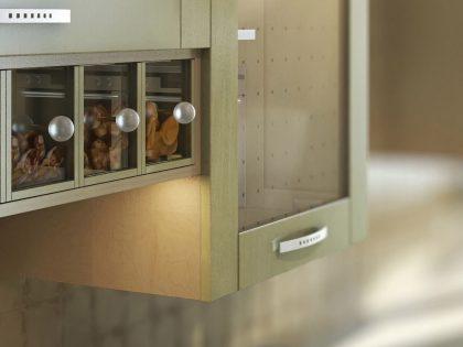 Кухня LADY с рамочными фасадами из массива ольхи