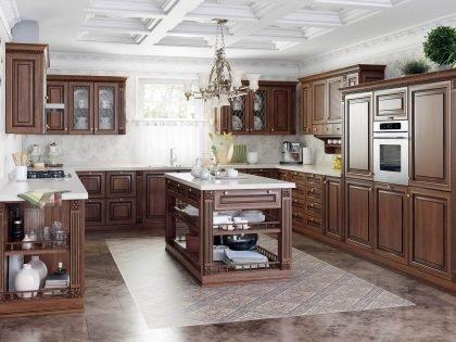 Кухня из массива дерева Buona Sera Флоренция в стиле классика