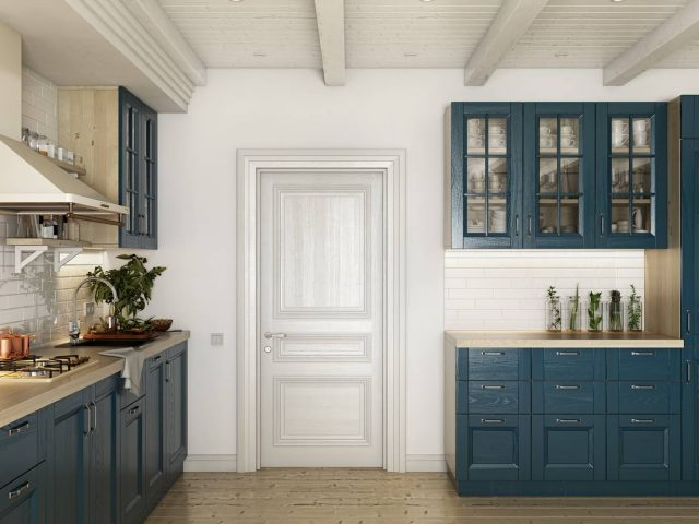 Современная кухня Lavanda Flora с фасадами из массива дуба