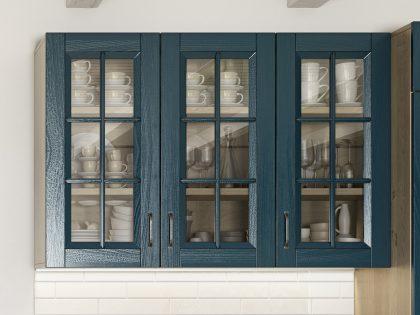 Современная кухня Lavanda Flora с фасадами из массива ясеня