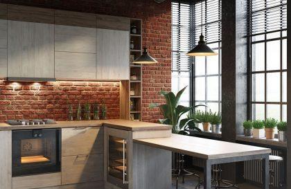 Современный кухонный гарнитур Mirella из экошпона