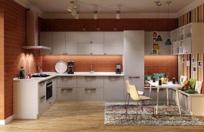 Современная кухня BOSTON с применением МДФ Эмали