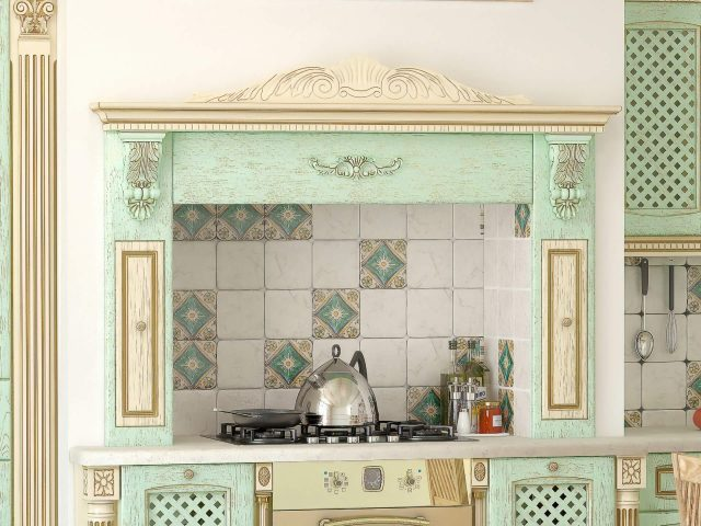 Кухня Вернисаж с фасадами из МДФ облицованного шпоном ясеня