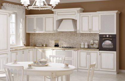 Классическая кухня MILANA 2 из массива ясеня