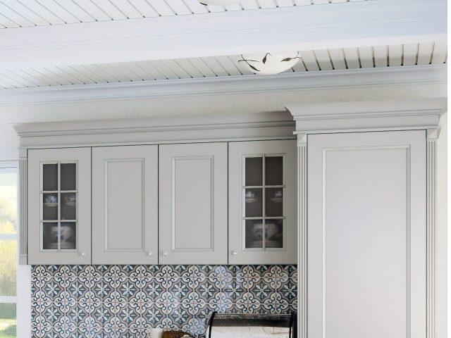 Кухня Рома в стиле Кантри с фасадами из массива дерева