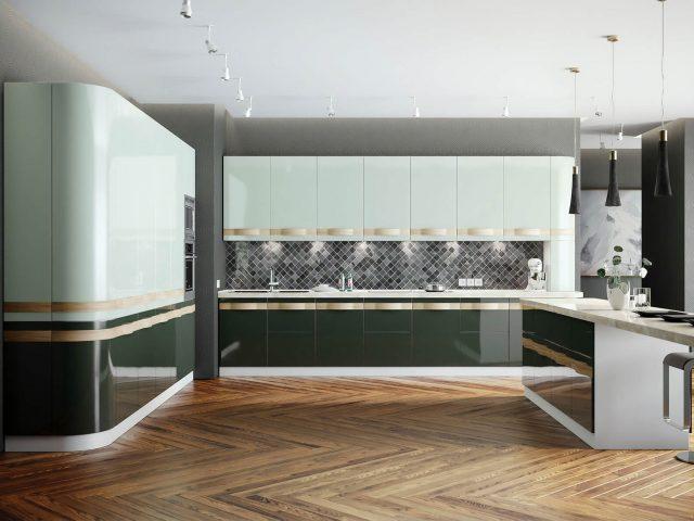 Современная кухня Леон с фасадами из МДФ