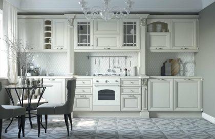Классическая кухня Амато из массива ясеня