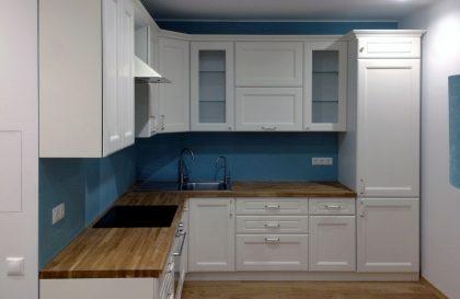 Кухня Вернисаж с фасадами из натурального шпона