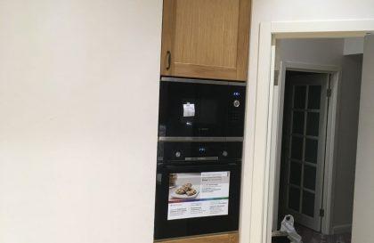 Кухня из массива дерева со вставкой из МДФ Тальви