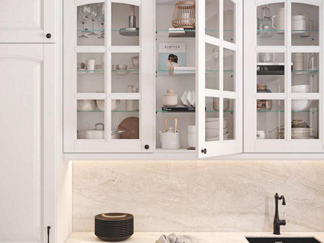 Кухня Далия с фасадами из массива ясеня