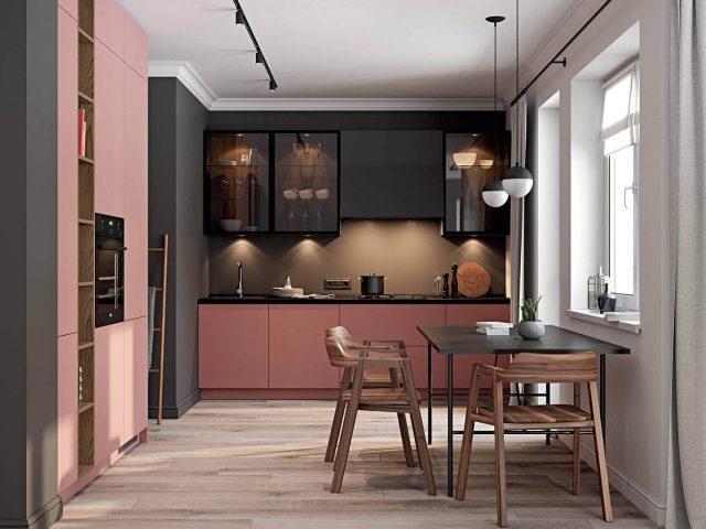 Кухня Беринген с фасадами из крашеной МДФ