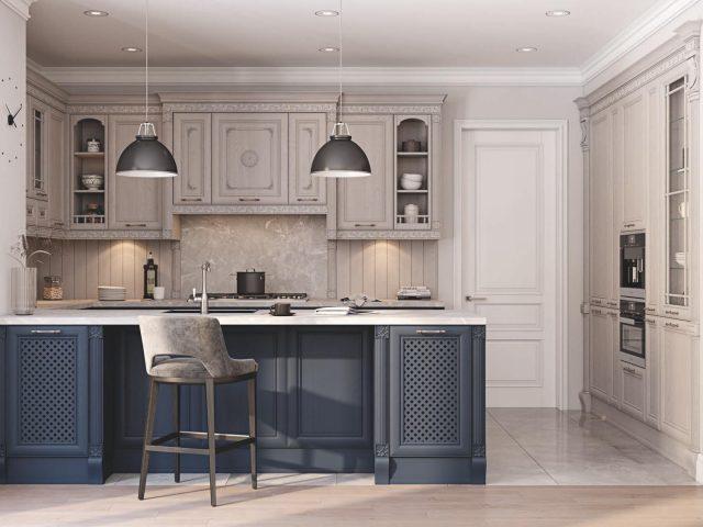 Кухня Вермонт с фасадами из массива ясеня в стиле Классика